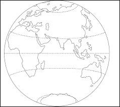 Laquelle de ces lignes est la plus au nord ?