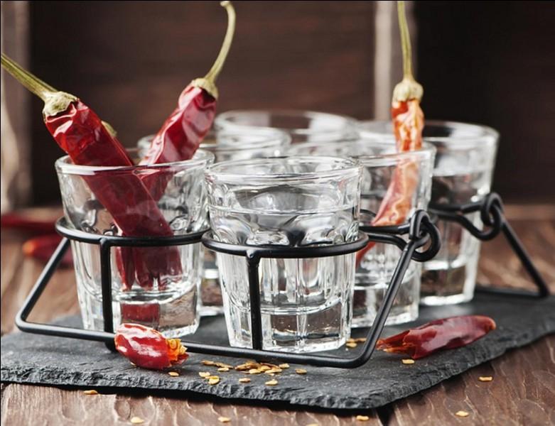 Attention « danger » ! Vous entrez dans la catégorie des boissons « volcaniques », voire « explosives », suivant une échelle simplifiée ! Même le vendeur conseille de ne pas l'acheter ! Cette boisson est à base de vodka et d'un autre produit !Quel est ce produit ?