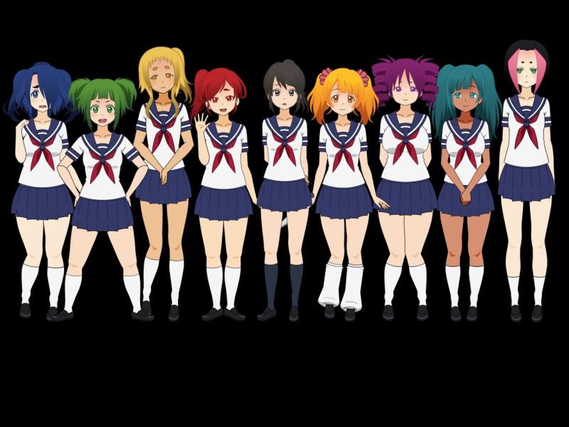 Quelle est la particularité des noms et prénoms de la bande de filles du lycée d'Ayano ?