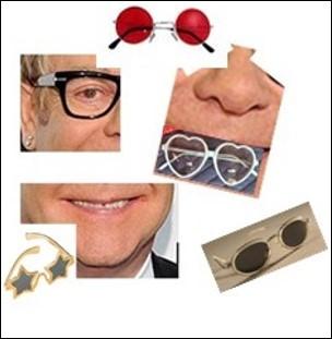 Quel est ce chanteur, pianiste, aux 20 000 paires de lunettes ?