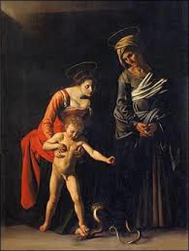 """""""La Madone des palefreniers"""" appelé aussi """"La Madone au serpent"""" est un tableau de style baroque peint entre 1605 et 1606. Cette toile représente Marie, au centre gauche, soutenant son fils, assez grand et nu, qui appuie son pied sur le sien pour écraser un serpent. À droite, se trouve Sainte Anne, patronne des palefreniers de Rome (commanditaires de l'oeuvre). Quel peintre a exécuté cette huile ?"""