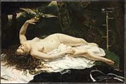 Le tableau précédent était en vérité un clin d'œil à une toile du même nom, datant aussi de 1866, qui représente une femme nue avec un perroquet, et réalisé par un peintre réaliste (1819-1877) du nom de :