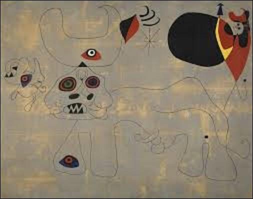 """""""La Course de taureaux"""", peinte en 1945, et le deuxième et dernier tableau réalisé sur la corrida par ce peintre surréaliste. Conservé au Centre Pompidou, qui en est l'auteur ?"""