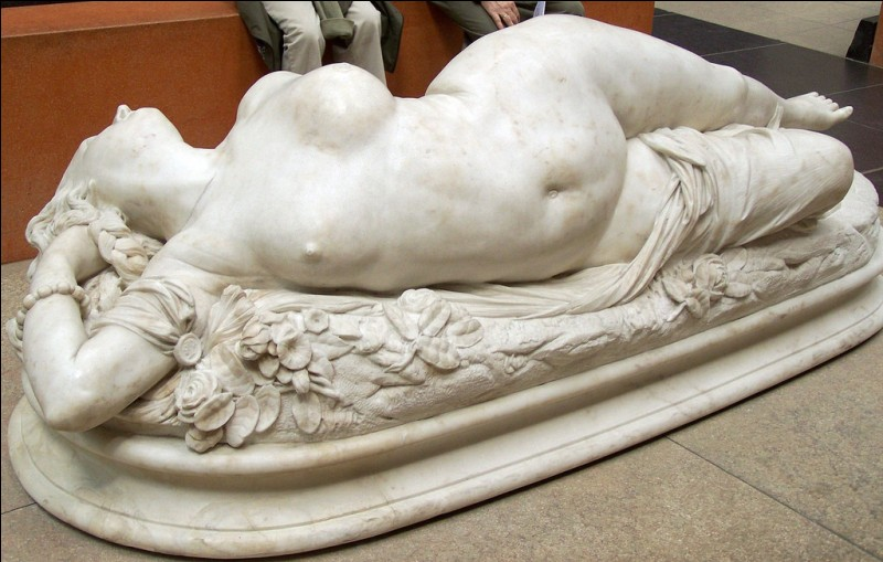 """""""Femme piquée par un serpent"""" (1846). Ce marbre d'Auguste Clesinger fit un scandale monstre. Pourquoi ?"""