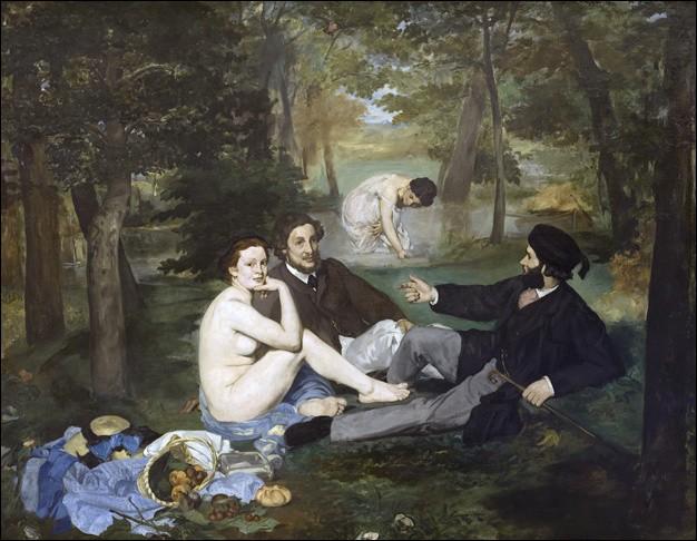 """""""Le Déjeuner sur l'herbe"""", de Manet a fait scandale au """"Salon des refusés"""" de 1863. Mais qui était la baigneuse du fond ?"""