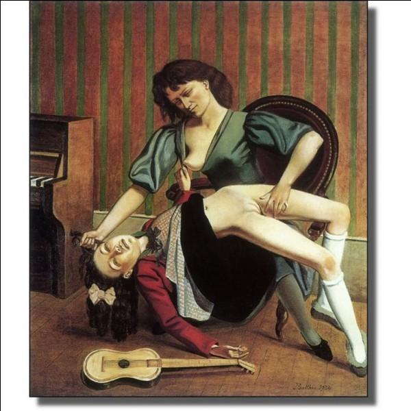 Balthasar Kłossowski fit évidemment scandale en 1934 avec ce tableau dont je vous demande le nom, ainsi que le pseudonyme de son auteur !