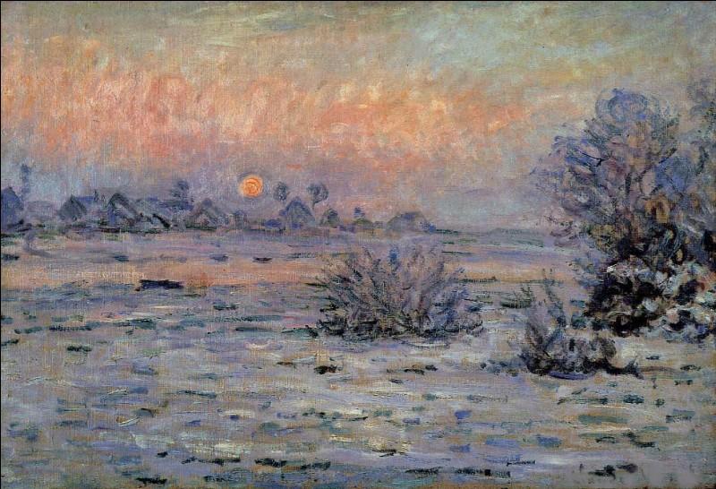 """Cette toile s'intitule """"Soleil d'hiver à Lavacourt"""", quel est l'artiste qui l'a réalisée, et auquel l'impressionnisme doit son nom ?"""