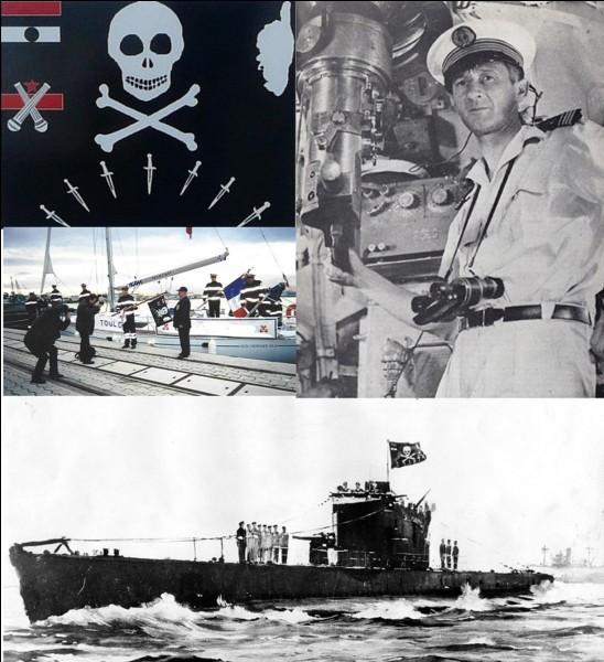 En France, il est interdit de hisser le drapeau noir (drapeau pirate) sur un navire ! Mais, il existe deux exceptions. L'une d'entre elles est un hommage à un marin français, l'autre concerne un navire de la « Royale » (Marine nationale).Quelle est la bonne proposition ?