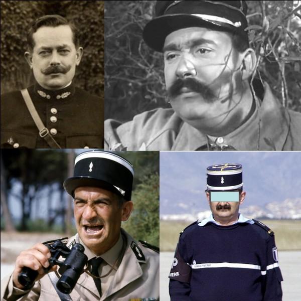 De 1832 à 1836, de 1841 à 1866 et de 1914 à 1933, un élément était indispensable pour tous les gendarmes. C'est par plusieurs circulaires ministérielles imposèrent cet élément.Quel élément l'Etat imposa-t-il ?