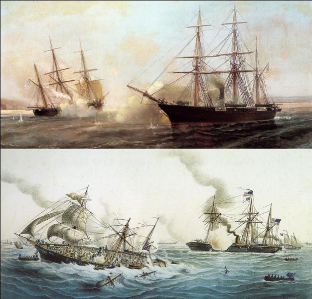 Le 19 juin 1864, les habitants de Cherbourg assistèrent à un événement qui ne concernait ni Cherbourg, ni la France.Que s'est-il passé ?