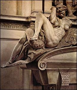 """Qui a sculpté cette statue en marbre nommée """"La Nuit"""" ?"""