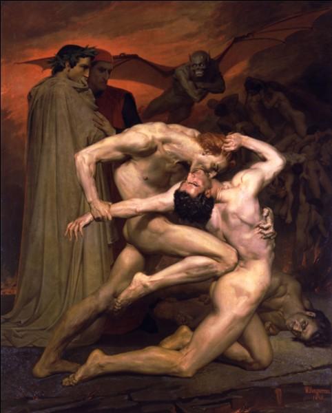 En 1850, c'est à dessein que Bouguereau pousse les limites de l'académisme vers le ridicule. De quelle manière ?