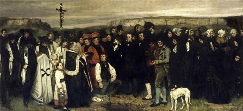 """Gustave Courbet (encore lui !) veut se faire un nom. Y parvient-il avec """"Enterrement à Ornans"""" (1849) ?"""