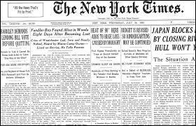 """Durant quel siècle a été fondé le célèbre journal new-yorkais appelé """"The New York Times"""" ?"""