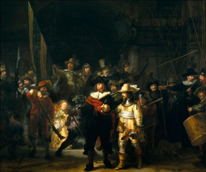 """Qui a réalisé le célèbre tableau """"La ronde de nuit"""" ?"""