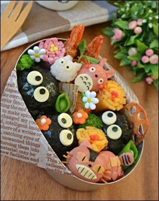 Lorsqu'ils vont à l'école, les jeunes japonais ne mangent pas à la cantine mais ont des sortes de paniers repas tout prêt qu'ils appellent...