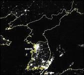 Quel pays peut-on reconnaître sur ce cliché de nuit ?