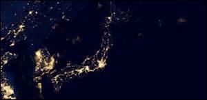 Quel archipel asiatique peut-on reconnaître sur ce cliché de nuit ?