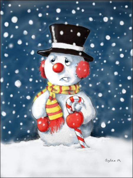 """Les enfants feront un """"bonhomme de neige"""" :"""
