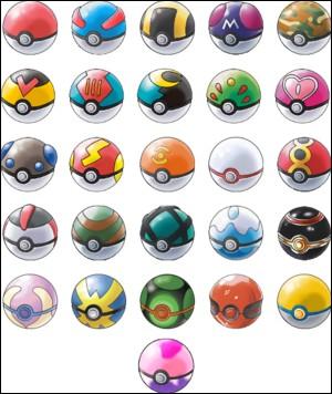 Combien y a-t-il de poké balls différentes ?