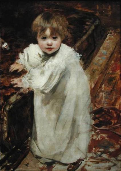 """Qui a immortalisé sur cette toile """"Les premiers pas de Colette"""" ?"""