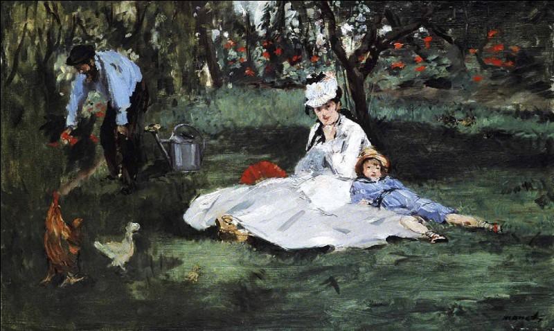 """Qui a représenté """"La famille Monet au jardin"""" ?"""