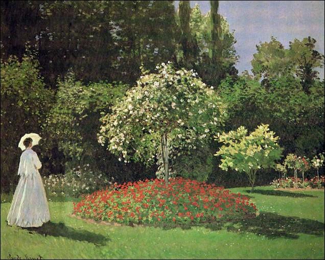 "Qui a peint ""Dame au jardin ?"