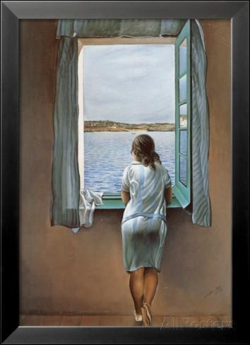 """Qui a peint """"Jeune fille debout à la fenêtre"""" ?"""