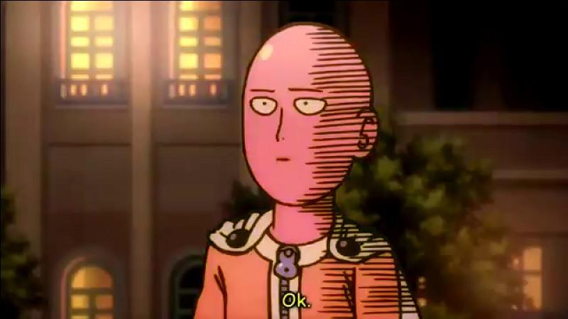 Quelle est la particularité de Saitama, héros principal de One Punch Man ?