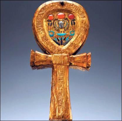 """Un miroir s'insère dans une croix égyptienne appelée """"ânkh"""", qui est son nom d'origine d'après les hiéroglyphes. Quel sens a ce mot ?"""