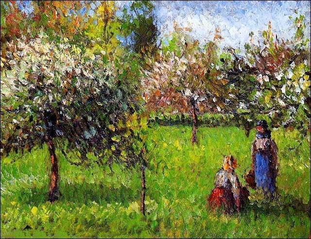 """A qui appartient le tableau """"Pommiers en fleurs à Eragny"""" ?"""