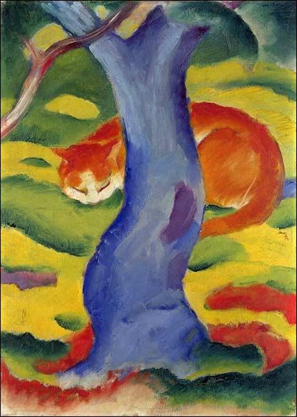 """Qui a peint """"Chat derrière un arbre"""" ?"""