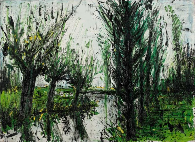 "Qui a peint ""Les arbres près de la rivière"" ?"