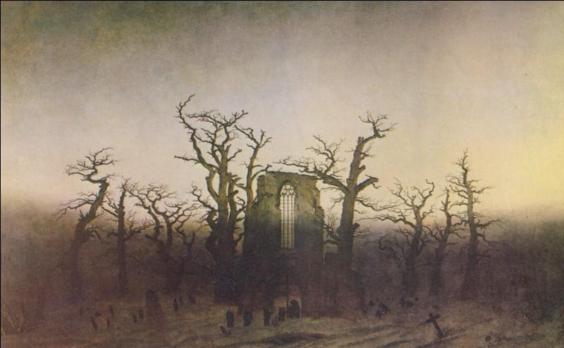 """Qui a peint """"L'abbaye dans une forêt de chênes"""" ?"""