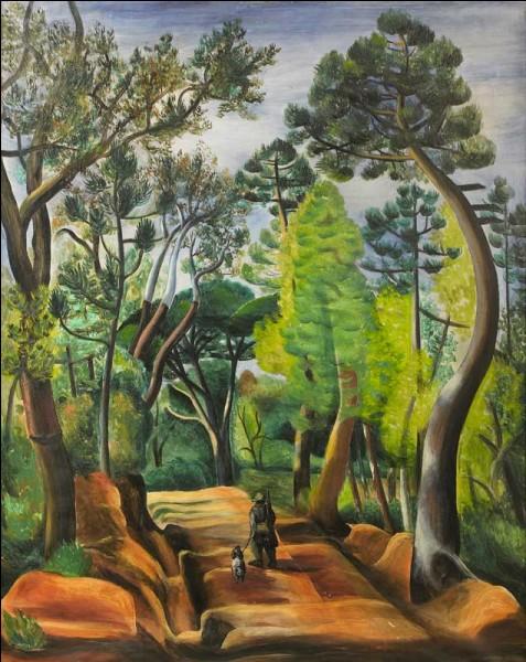 """Qui a représenté ces arbres dans ce """"paysage ombragé à Ramatuelle"""" ?"""