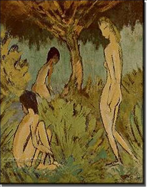 """Qui a peint """"Trois nus sous l'arbre"""" ?"""
