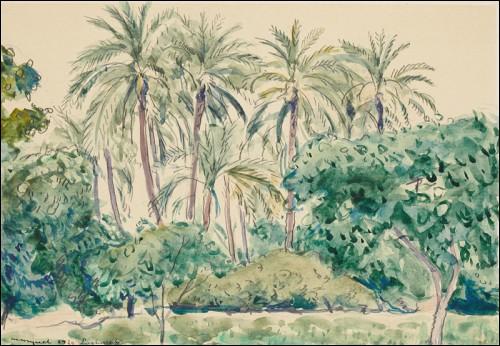 """Par qui a été peinte """"La palmeraie à Laighouat"""" ?"""