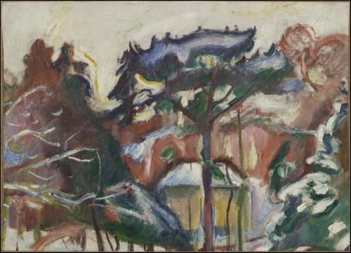 """Qui a représenté """"Les arbres à Honfleur"""" ?"""