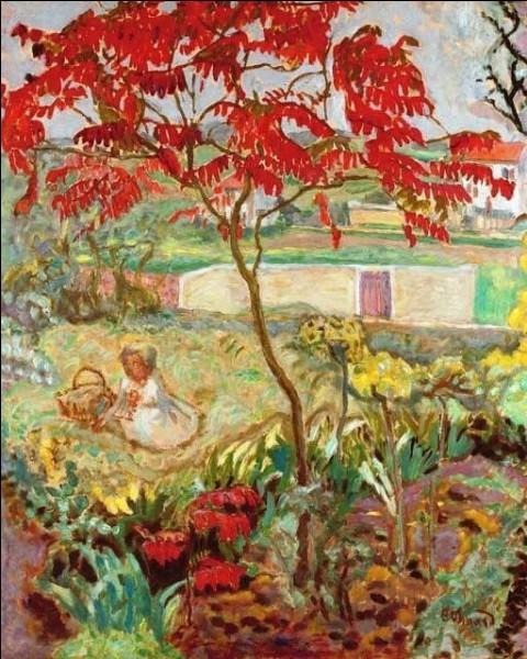 """Qui a peint """"Le jardin à l'arbre rouge"""" ?"""