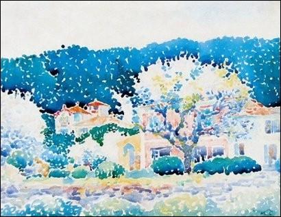 """Qui a peint ces arbres sur cette toile intitulée """"Bormes"""" ?"""