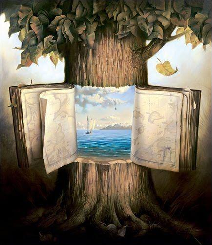 """Ce tronc d'arbre se nomme """"conte philosophique"""", par qui est signé ce tableau ?"""