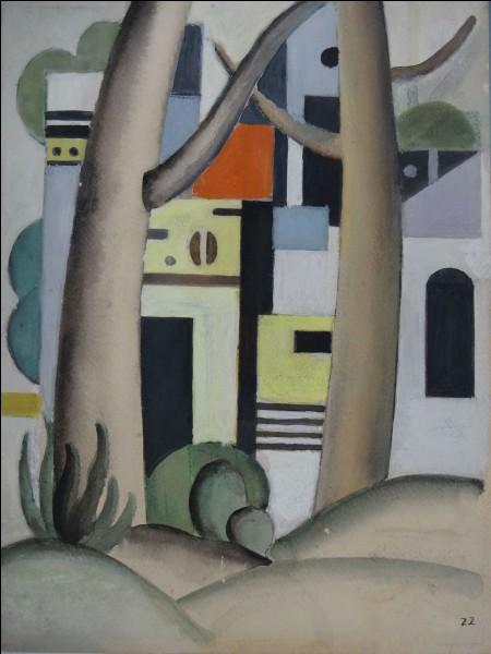 """Qui a peint """"Les arbres devant la maison"""" ?"""