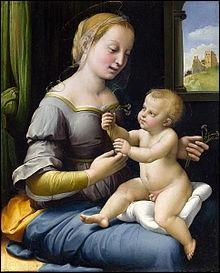 """Qui a peint """"La Madone aux oeillets"""" ?"""