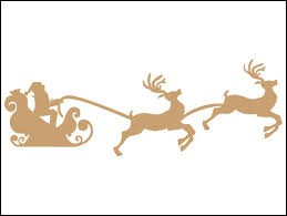 Le père Noël a huit rennes.
