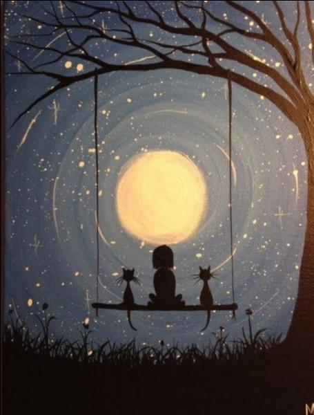 """Je vois """"la lune"""" :"""