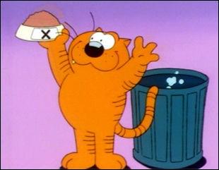 Dans la série américaine intitulée « Les Entrechats », comment s'appelle ce gros chat orange ?