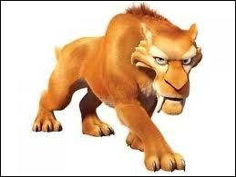 """Comment ce tigre à dents de sabre, qu'on peut retrouver dans le film d'animation intitulé """"l'Âge de glace"""", se nomme-t-il ?"""