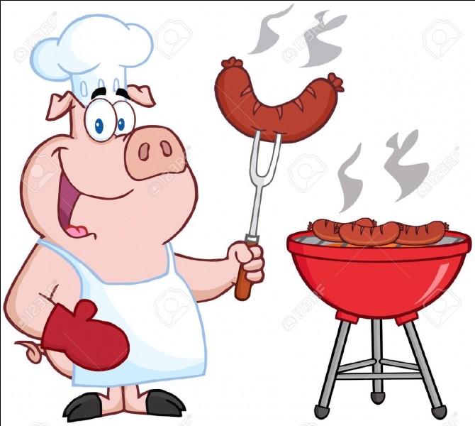 Si on jouait avec les mots ? Quel cuisinier pourrait bien être ce cochon ?