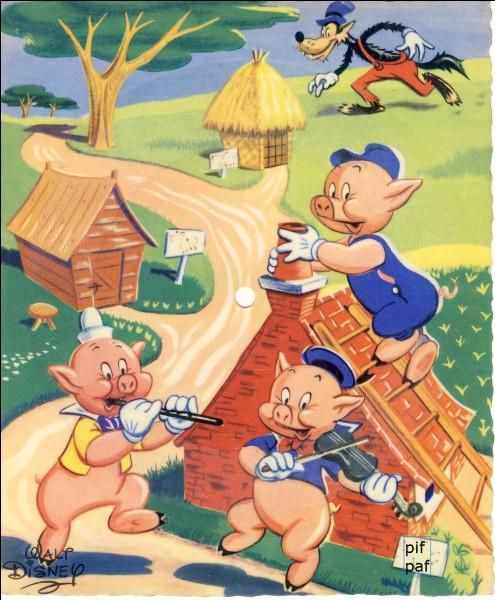 Lequel des trois petits cochons construit sa maison en paille ?