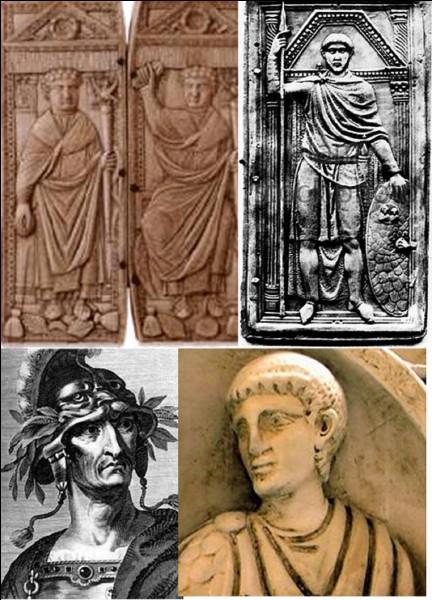Antiquité Romaine : Après les avoir battus, il permettra aux parents de Clovis de s'installer dans l'Empire romain. Il battra les Huns aux Champs catalauniques (près de Châlons-en-Champagne ou près de Troyes). L'empereur l'assassinera, craignant qu'il ne le dépose !Qui est ce soldat romain né dans l'actuelle Bulgarie ?